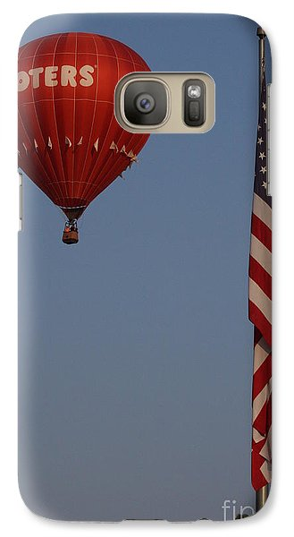 Galaxy Case featuring the photograph Hooters American Flag by Jerry Bunger
