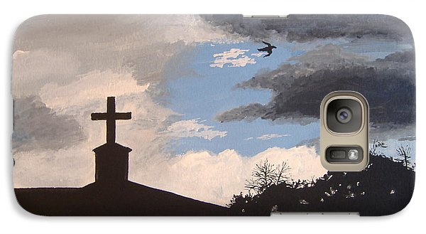 Galaxy Case featuring the painting Hope In The Storm by Norm Starks