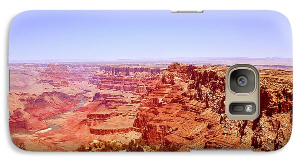 Galaxy Case featuring the photograph horizon in Grand Canyon by Rima Biswas