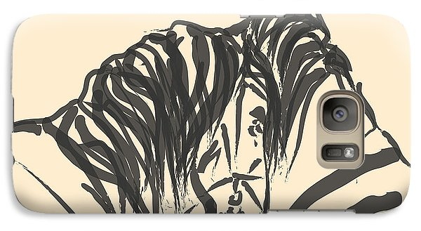 Galaxy Case featuring the painting Horse - Together 9 by Go Van Kampen