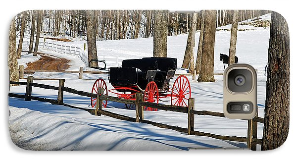 Galaxy Case featuring the photograph Horse And Buggy - No Work Today by Janice Adomeit