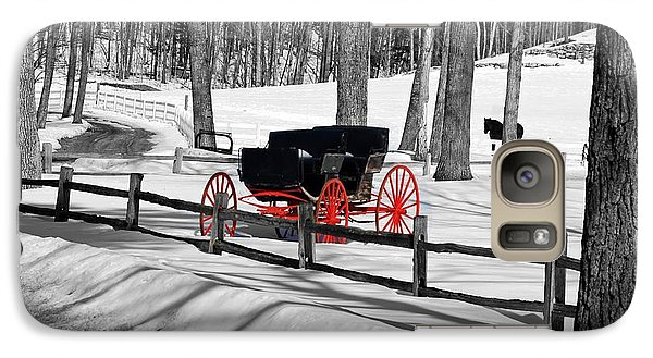 Galaxy Case featuring the photograph Horse And Buggy - No Work Today No. 2 by Janice Adomeit