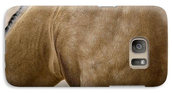 Galaxy Case featuring the photograph Horse Bending Neck by Lorraine Devon Wilke