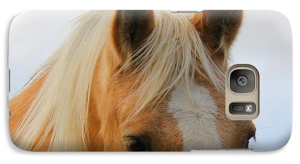 Galaxy Case featuring the photograph Horse Head Study by Laurinda Bowling