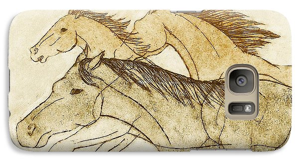 Galaxy Case featuring the drawing Horse Sketch by Nareeta Martin
