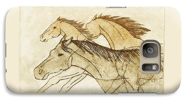 Horse Sketch Galaxy S7 Case
