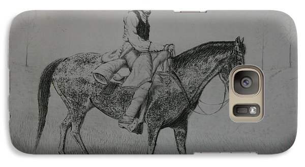 Galaxy Case featuring the drawing Horseman by Stacy C Bottoms