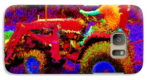 Galaxy Case featuring the photograph Hot Afternoon On A John Deere Tractor by George Pedro