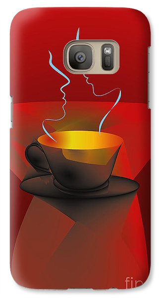 Galaxy Case featuring the digital art Hot Coffee by Leo Symon