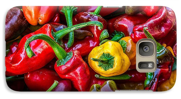 Galaxy Case featuring the photograph Hot Pepper Time by Ken Stanback
