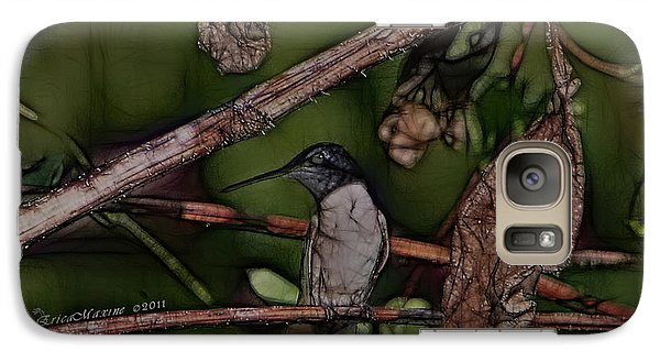 Galaxy Case featuring the photograph Hummingbird Waiting For Dinner by EricaMaxine  Price