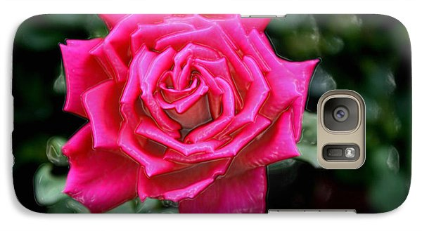 Galaxy Case featuring the photograph I Am A Beautiful Rose  I Am Who I Am by Sherri  Of Palm Springs