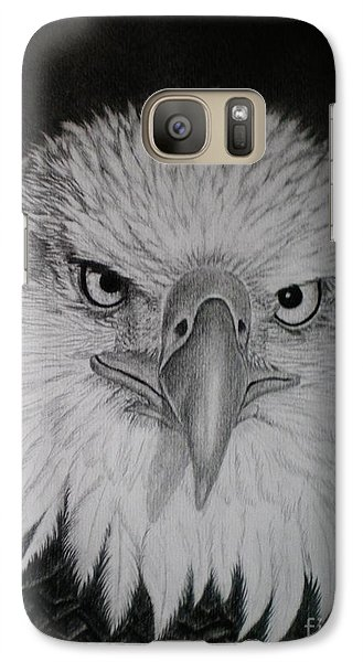 Galaxy Case featuring the drawing I Am Watching You by Paula L