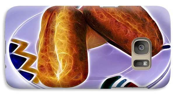 Galaxy Case featuring the digital art I Love Bread by James Ahn