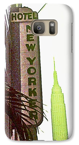 Galaxy Case featuring the photograph I Love New York by Beth Saffer