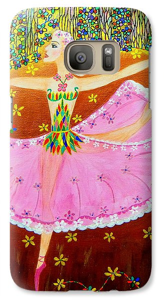 Galaxy Case featuring the painting I Want To Dance All Night. by Marie Schwarzer