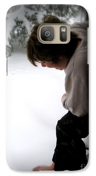 Galaxy Case featuring the photograph I Wonder . . . . . by Nancy Dole McGuigan
