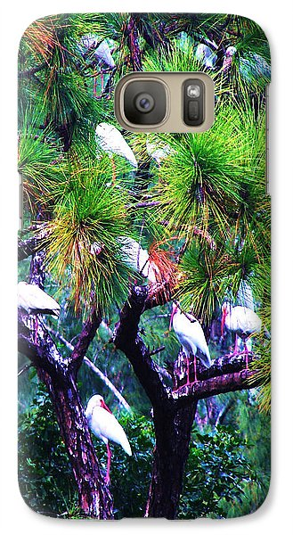 Galaxy Case featuring the photograph Ibis-gone To Roost-2 by Joy Braverman
