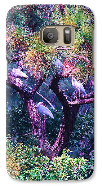 Galaxy Case featuring the photograph Ibis-gone To Roost by Joy Braverman