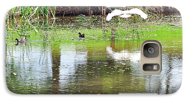 Ibis Over His Reflection Galaxy Case by Kaye Menner