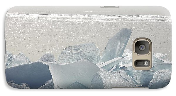 Galaxy Case featuring the photograph Ice Chunks On The Shores Of Lake by Susan Dykstra
