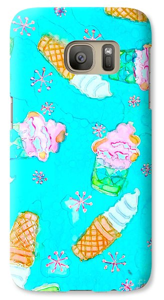 Galaxy Case featuring the painting Ice Cream I Scream by Beth Saffer