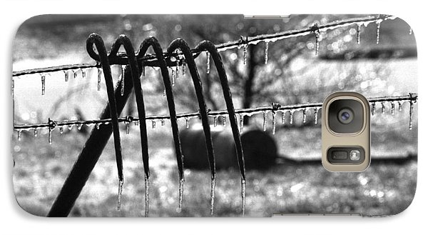Galaxy Case featuring the photograph Ice Storm On The Farm by Wanda Brandon
