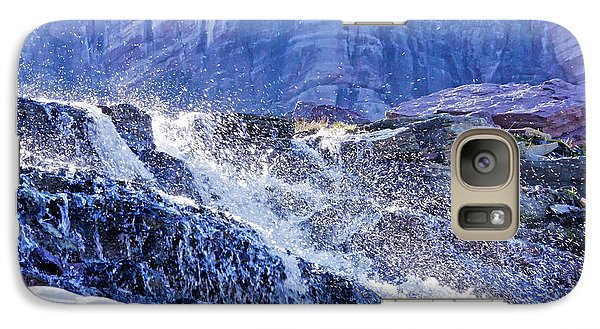Galaxy Case featuring the photograph Icy Cascade by Albert Seger