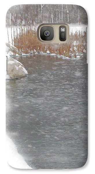 Galaxy Case featuring the photograph Icy Pond by John Crothers