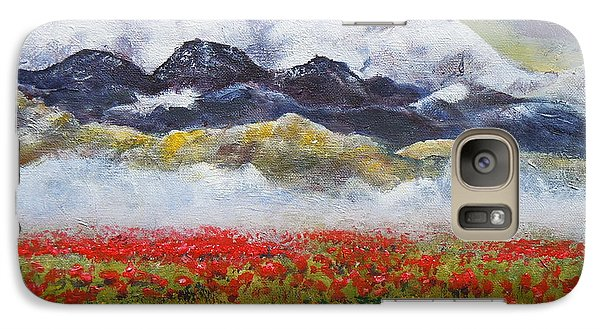 Galaxy Case featuring the painting If Rose Had Roses by Dan Whittemore