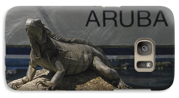 Galaxy Case featuring the photograph Iguana by David Gleeson