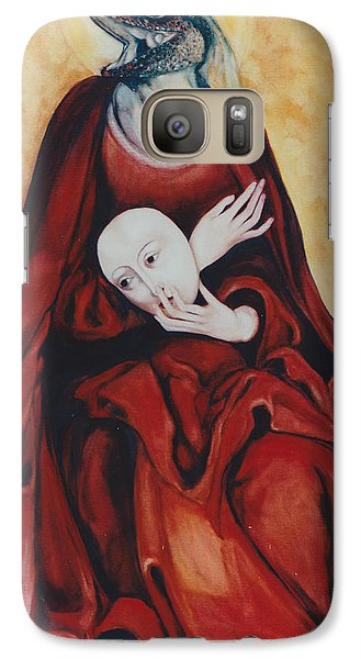 Galaxy Case featuring the painting Imitation Of Art by Irena Mohr