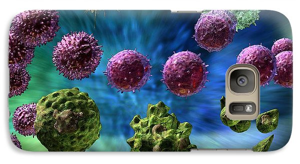 Galaxy Case featuring the digital art Immune Response Cytotoxic 1 by Russell Kightley