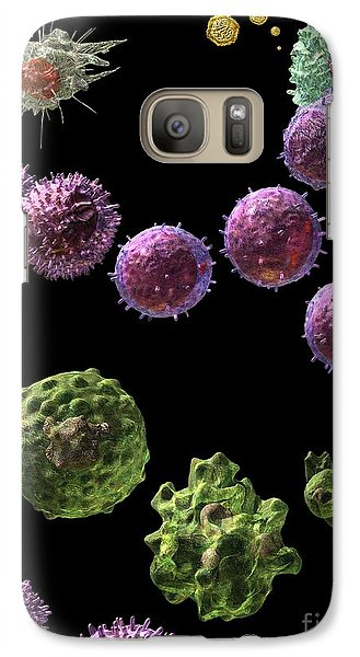 Galaxy Case featuring the digital art Immune Response Cytotoxic 2 by Russell Kightley