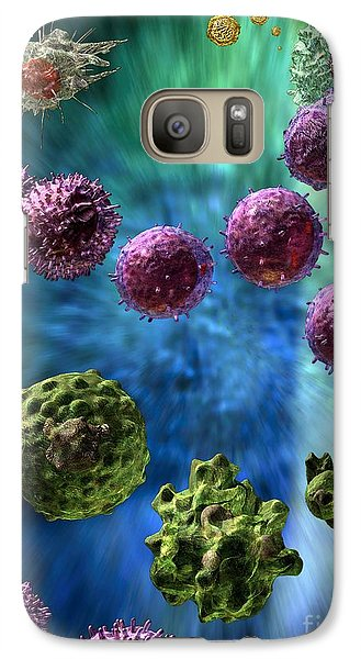 Galaxy Case featuring the digital art Immune Response Cytotoxic 3 by Russell Kightley