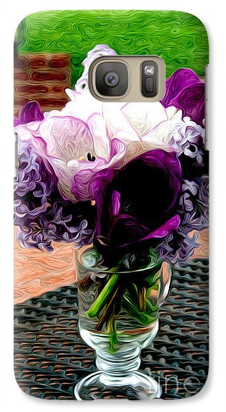 Galaxy Case featuring the photograph Impressionist Floral Bouquet by Karen Lee Ensley