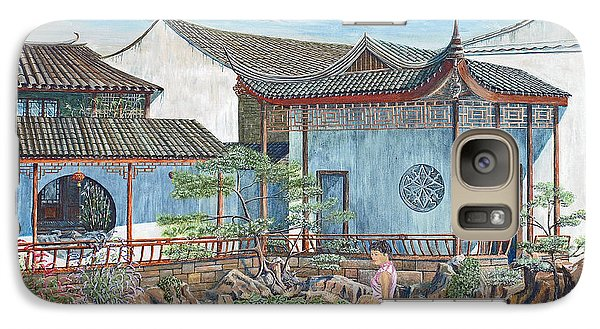 Galaxy Case featuring the painting In A Chinese Garden by Anthony Lyon
