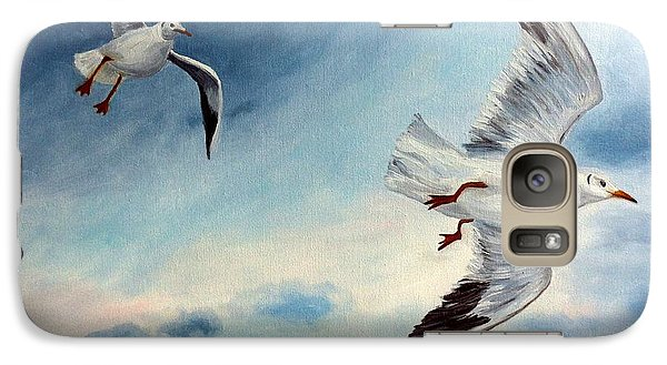 Galaxy Case featuring the painting In Flight by Julie Brugh Riffey