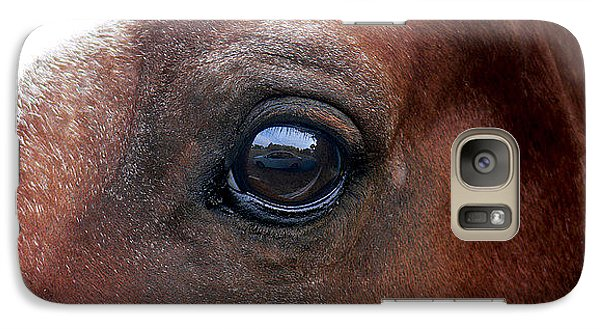 Galaxy Case featuring the photograph In His Sight by EricaMaxine  Price
