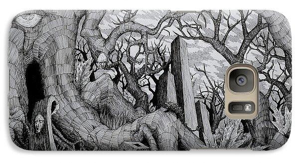 Galaxy Case featuring the drawing in my garden II by Mariusz Zawadzki