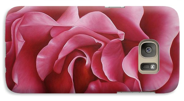 Galaxy Case featuring the painting In The Heart Of A Rose by Paula L
