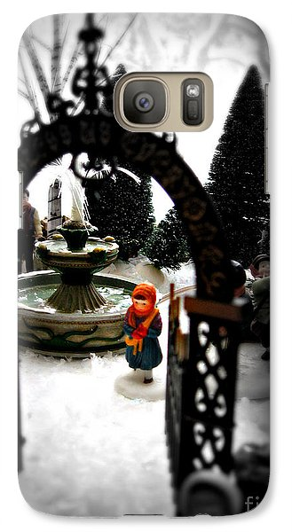 Galaxy Case featuring the photograph In The Village by Nancy Dole McGuigan