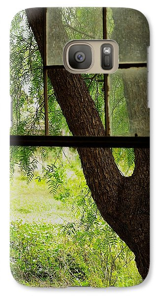 Galaxy Case featuring the photograph Inside Looking Out by Blair Stuart