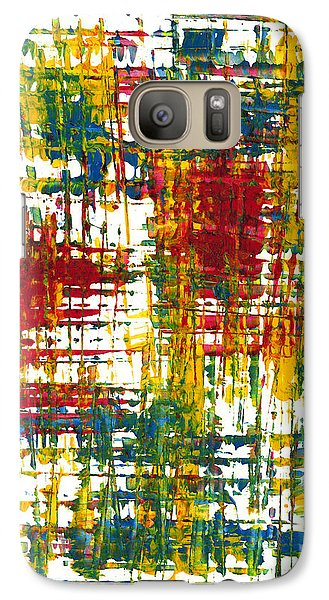 Galaxy Case featuring the painting Inside My Garden 161.110411 by Kris Haas