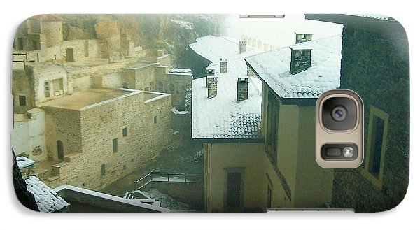 Galaxy Case featuring the photograph Inside The Monastery by Lou Ann Bagnall