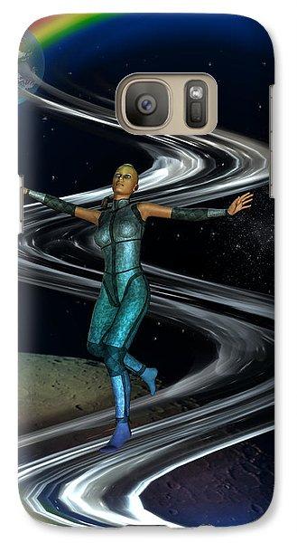 Galaxy Case featuring the digital art Interplanetary Glideway by Shadowlea Is