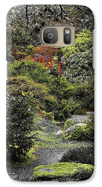 Galaxy Case featuring the photograph Intimate Garden by Ken Stanback
