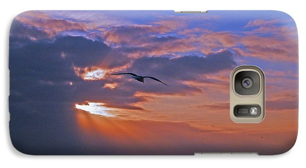 Galaxy Case featuring the photograph Into The Misty Morning Sun by Brian Wright