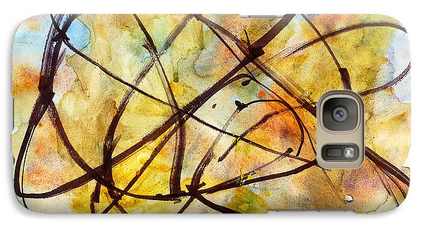 Galaxy Case featuring the painting Inverno Abstract Watercolor by Chriss Pagani