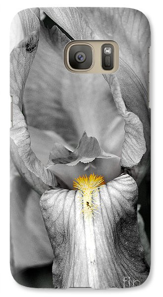 Galaxy Case featuring the photograph Iris - Bw by Larry Carr
